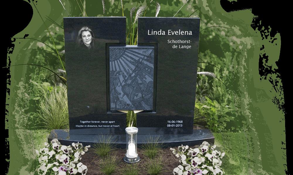 Foto op natuursteen grafsteen den hollandsche gedenktekens