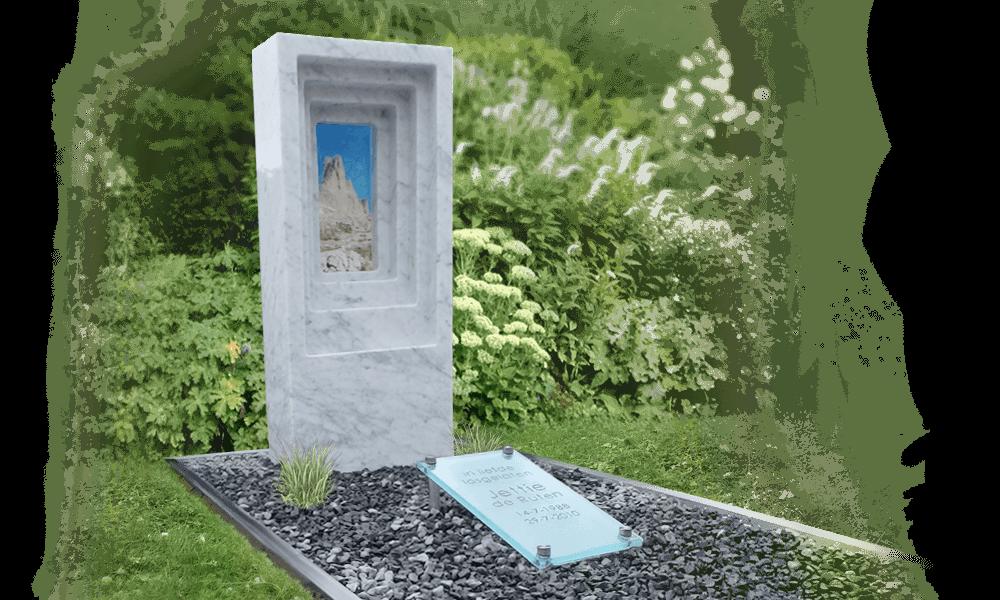 Zuilen grafsteen den hollandsche gedenktekens - Type marmer met foto ...