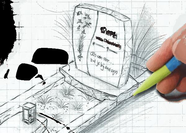 Grafsteen ontwerpen den hollandsche van eenvoudig tot for Eigen moestuin ontwerpen en aanleggen
