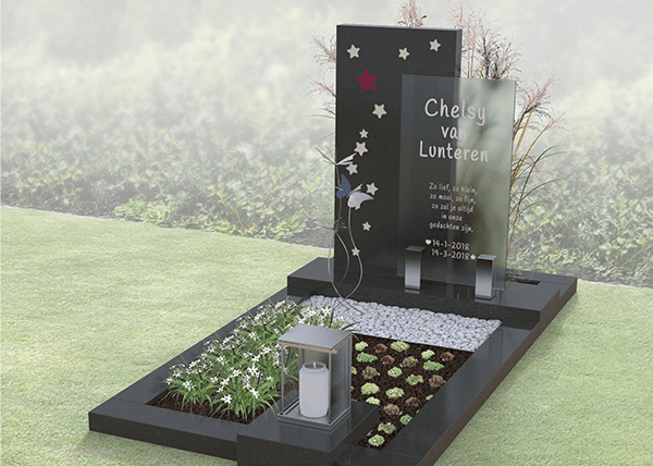 lay-out voorstel grafmonument