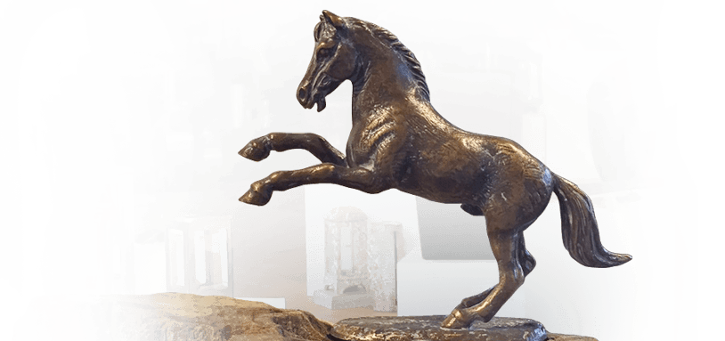 kindermonumenten showroom bronzen paard