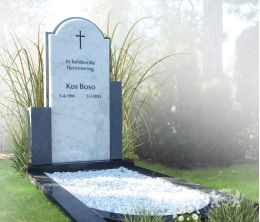 Klassiek grafmonument van marmer