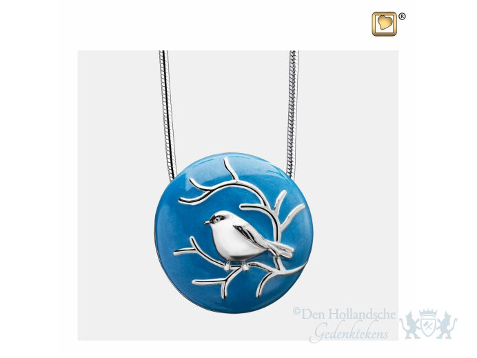BlessingBirds Ashes Pendant Pearl Blue and Pol Silver foto 1