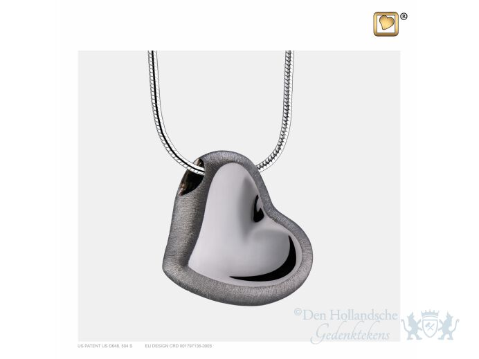Leaning Heart Ashes Pendant Pol and Bru Ruthenium foto 1
