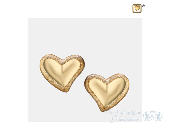 Leaning Heart Stud Earrings Pol and Bru Gold Vermeil foto 1