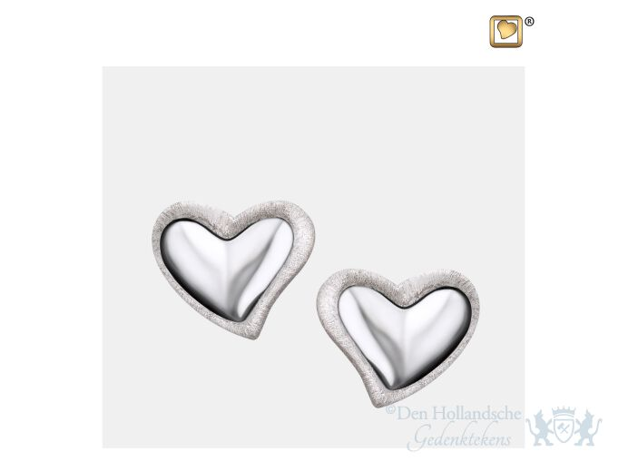 Leaning Heart Stud Earrings Pol and Bru Silver foto 1