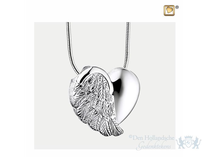 LoveWings Ashes Pendant Pol and Bru Silver foto 1