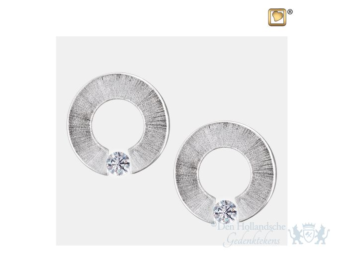 Omega Stud Earrings Pol and Bru Silver foto 1