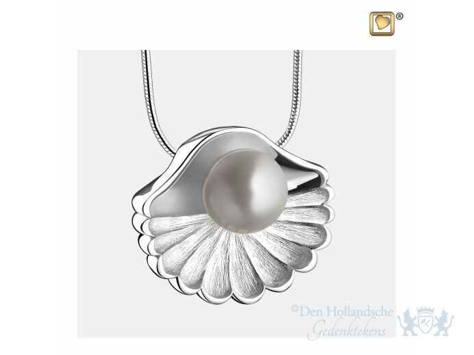 SeaShell Pearl Ashes Pendant Pol and Bru Silver foto 1