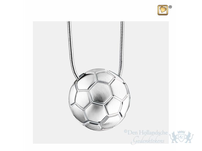 SoccerBall Ashes Pendant Pol and Bru Silver foto 1
