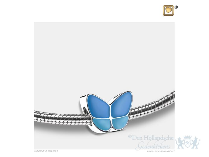 Wings of Hope Ashes Bead Pearl Blue and Pol Silver foto 1