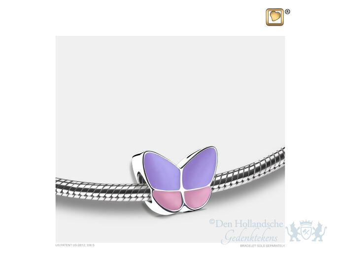 Wings of Hope Ashes Bead Pearl Lavender and Pol Silver foto 1