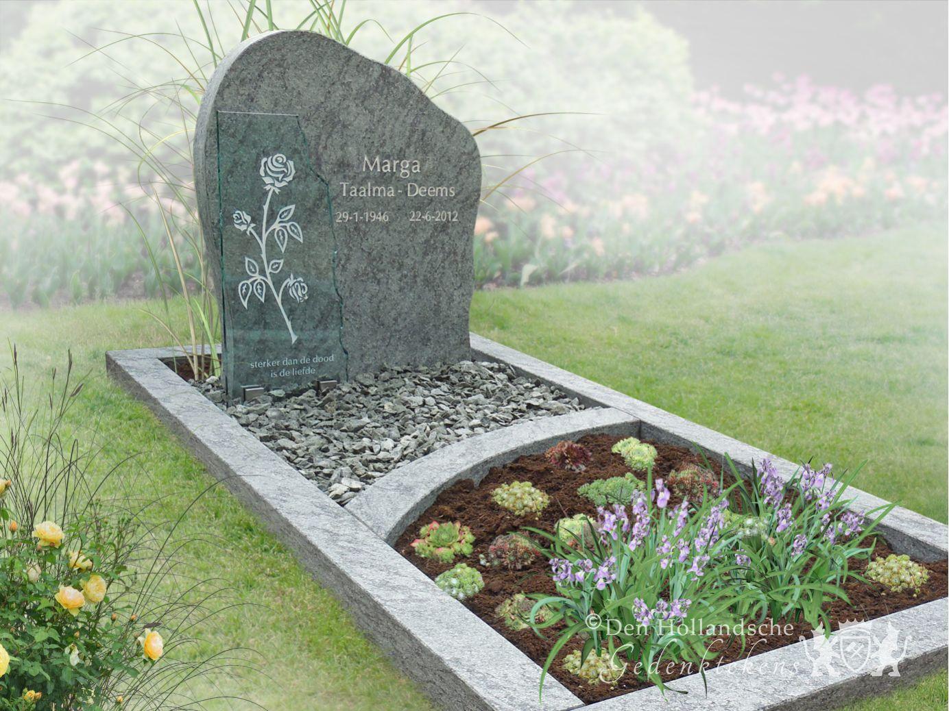 Gedenkteken van olijfgroen natuursteen den hollandsche gedenktekens