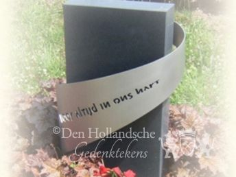 Grafmonument met RVS-band