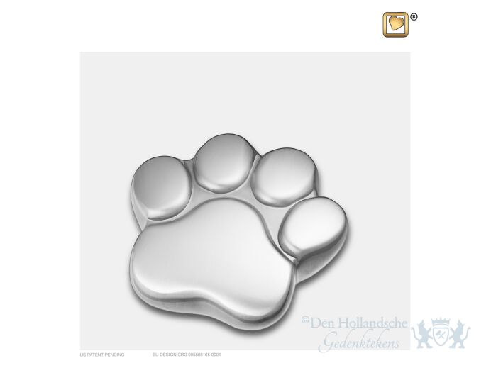 LovePaw Pet Keepsake Urn Bru Pewter foto 1