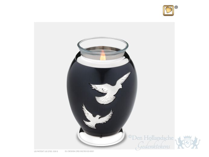 Nirvana Adieu Tealight Urn Midnight and Pol Silver foto 1