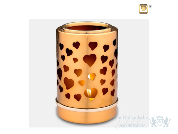 Reflections of Love Tealight Urn Bru Gold foto 1