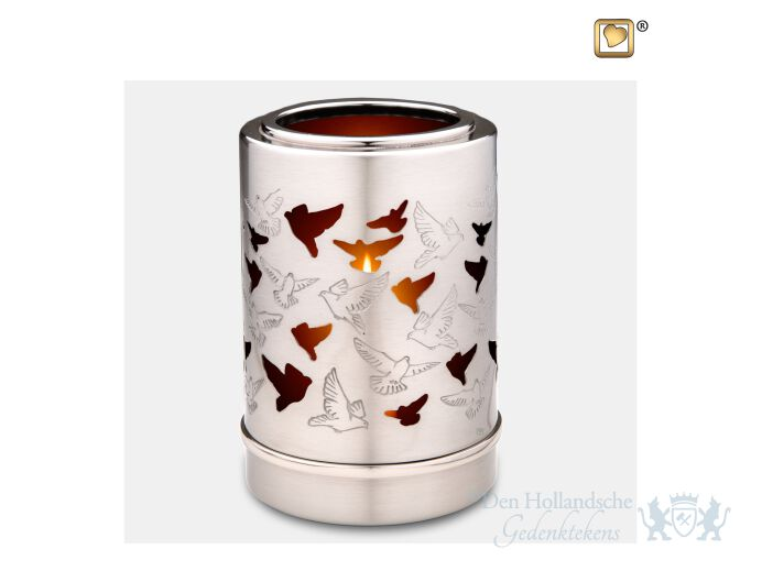Reflections of Soul Tealight Urn Bru Pewter foto 1