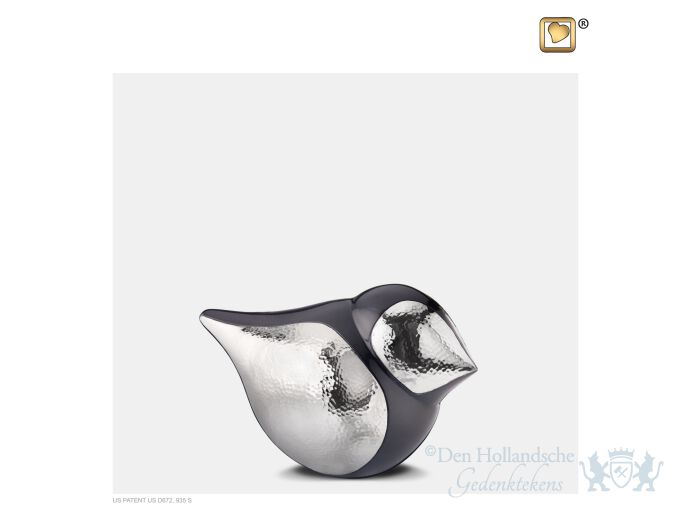 SoulBird Keepsake Urn Midnight and Hmd Silver foto 1