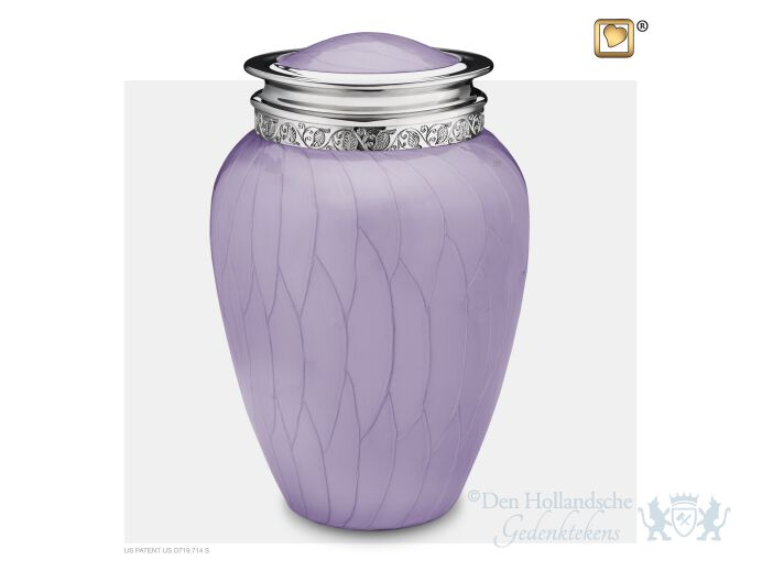 Blessing Adult Urn Pearl Lavender and Pol Silver foto 1