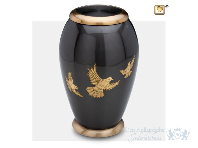 Majestic Flying Dove Adult Urn Midnight and Bru Gold foto 1